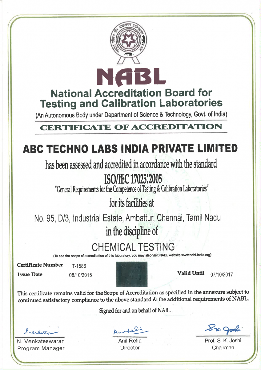 abc techno lab  nabet accredited consultant in india